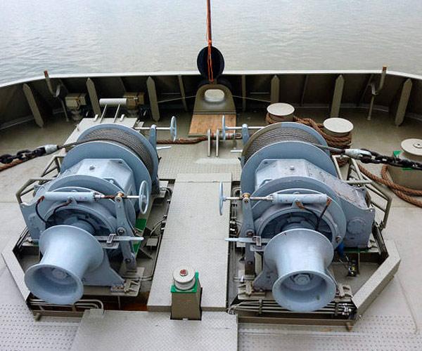 Venta de cabrestante de ancla del barco, motor eléctrico/hidráulico